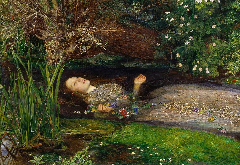 BIPERSONEN John Everett Millais' maleri Ophelia