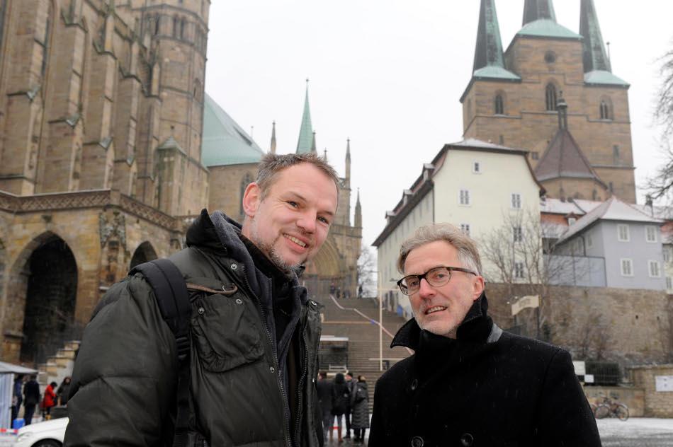 Peter Lund og Wolfgang Böhmer (foto Lutz Edelhoff)